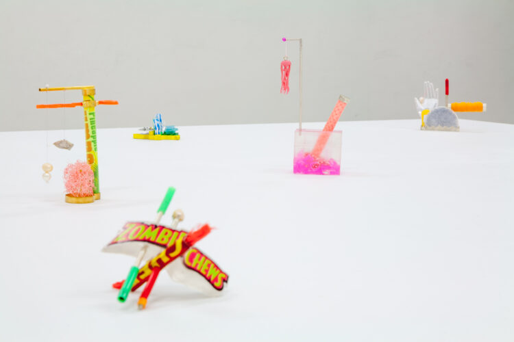 Installation view of Spiral Jetty at KFC by Clementine Edwards, 2014, TCB Art Inc, Naarm/Melbourne. Photo © Christo Crocker.